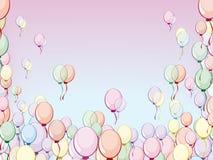 воздушные шары покрасили multi бесплатная иллюстрация