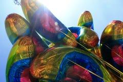 Воздушные шары радуги на гордости Дублина стоковое изображение