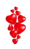 Воздушные шары сердца на белой предпосылке иллюстрация вектора