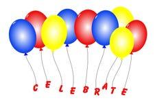Воздушные шары торжества Стоковые Фото