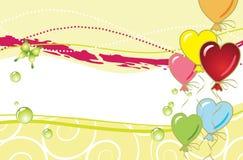 Воздушные шары формы сердца. Стоковые Изображения RF