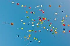 Воздушные шары цвета голубого неба Стоковое Изображение RF