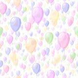 Воздушные шары цвета прозрачные вектор картины безшовный простая повторяющийся предпосылка младенца краска ткани Образец ткани об иллюстрация штока