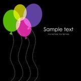 воздушные шары чешут цветастое приветствие иллюстрация вектора