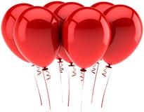 воздушные шары party красный цвет Стоковые Фотографии RF