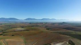 Воздушные южно-африканские горы сток-видео