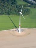 воздушный ветер взгляда турбины поля Стоковые Изображения