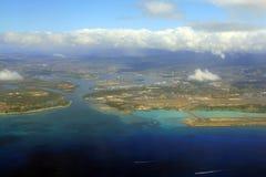 воздушный взгляд авиапорта Стоковая Фотография