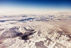 воздушный взгляд австрийца alps Стоковые Изображения RF