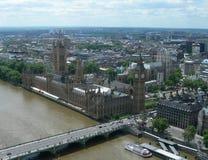воздушный взгляд Англии london Великобритании Стоковые Фотографии RF