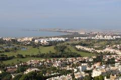 воздушный взгляд города стоковое фото