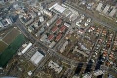 воздушный взгляд города стоковая фотография rf