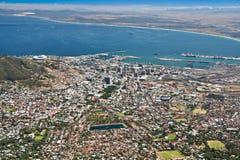воздушный взгляд городка города плащи-накидк Стоковое Фото