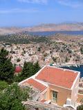 воздушный взгляд грека города Стоковое Изображение RF