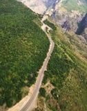 воздушный взгляд дороги Стоковые Фотографии RF