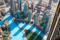 воздушный взгляд Дубай стоковые фотографии rf