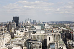 воздушный взгляд европы london Великобритании зодчества Стоковое фото RF