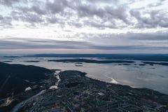 Воздушный взгляд залива Townscape Стоковое Изображение