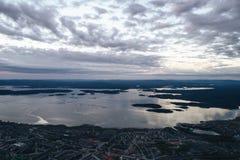 Воздушный взгляд залива Townscape Стоковое фото RF