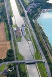 воздушный взгляд замка канала Стоковое Фото