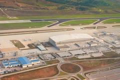 воздушный взгляд инфраструктуры athens авиапорта Стоковые Изображения