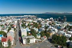 воздушный взгляд Исландии reykjavik стоковые изображения rf