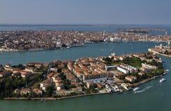воздушный взгляд Италии venice города Стоковые Фотографии RF