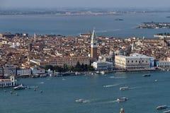 воздушный взгляд Италии venice города Стоковые Изображения RF