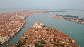 воздушный взгляд Италии venice видеоматериал