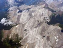 воздушный взгляд Канады канадский rockies Стоковое Изображение