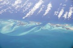 воздушный взгляд карибских островов Стоковая Фотография RF