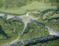воздушный взгляд карусели сельской местности Стоковые Фото