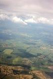 воздушный взгляд ландшафта самолета Стоковое фото RF