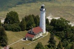воздушный взгляд маяка Стоковое Изображение RF
