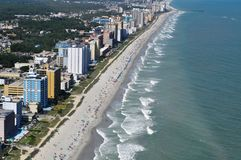 воздушный взгляд мирта пляжа стоковая фотография