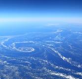 воздушный взгляд моря льда Стоковое Изображение RF