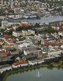 воздушный взгляд Норвегии trondheim города Стоковые Фото