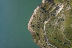 воздушный взгляд озера стоковая фотография
