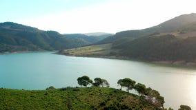 воздушный взгляд озера видеоматериал
