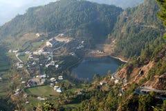 воздушный взгляд озера стоковые фото