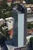 воздушный взгляд офиса здания стоковое изображение