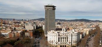 воздушный взгляд панорамы barcelona Стоковое фото RF