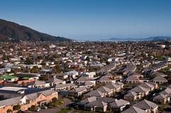 воздушный взгляд пригорода Стоковое Фото
