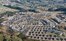 воздушный взгляд пригородов Стоковые Изображения RF