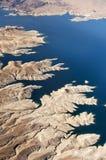 воздушный взгляд реки mead озера colorado стоковые изображения