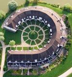 воздушный взгляд роскоши домов Стоковые Изображения