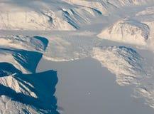 воздушный взгляд снежка реки Гренландии Стоковое Фото