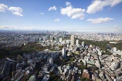 воздушный взгляд токио японии стоковое фото