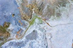 Воздушный взгляд трутня абстрактной естественной картины зимы стоковое изображение rf