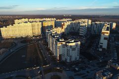 Воздушный взгляд трутня нового Vatutinki стоковое фото